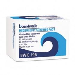 Boardwalk Medium Duty Scour Pad Green 6 x 9