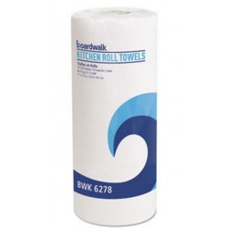 Boardwalk Perforated Paper Towel Rolls 2-Ply 11 x 8 White