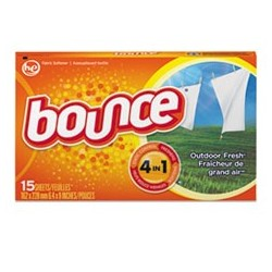 Bounce - Fabric Softener Sheets Outdoor Fresh 15 per Box