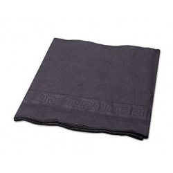 Hoffmaster Tissue Poly Tablecovers 54 x 108 Black