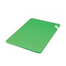 San Jamar Cut-N-Carry Color Cutting Boards Plastic Green