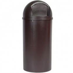 MARSHAL CLASSIC CONTAINER ROUND POLYETHYLENE 25 GAL BROWN