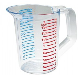 RUBBERMAID BOUNCER MEASURING CUP 16OZ CLEAR