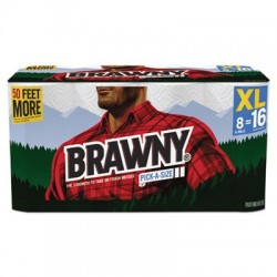Brawny Pick-A-Size Perforated Roll Towel 2-Ply 11 x 70ft White 140 Per Roll
