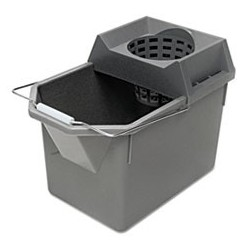 Rubbermaid Commercial Pail/Strainer Combination 15qt Steel Gray