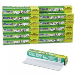 Marcal Kitchen Charm Wax Paper Roll 11 9|10 x 75ft White