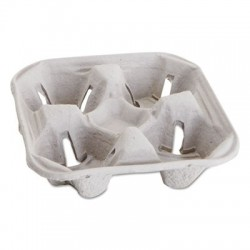 Boardwalk Carryout Cup Trays 12-20oz 4-Cup Capacity