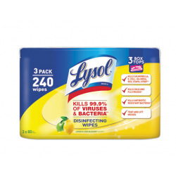 LYSOL Brand Disinfecting Wipes 7 x 8 Lemon and Lime Blossom