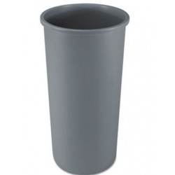 Rubbermaid Commercial Untouchable Waste Container Round Plastic 22gal Gray