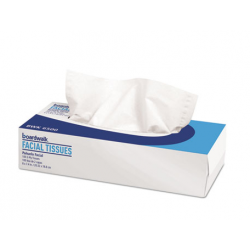 Boardwalk Office Packs Facial Tissue Flat Box 100 Sheets and Box