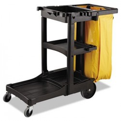 Vinyl Cleaning Cart Bag 34 gal Yellow