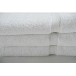 Oxford Silver (Merlin) Bath Towels 24 x 48   8lbs   86% Cotton / 14% Polyester Premium Cam 16S (WHITE)