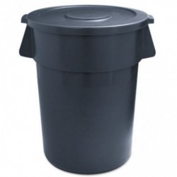Boardwalk Round Waste Receptacle LLDPE 32 gal Gray