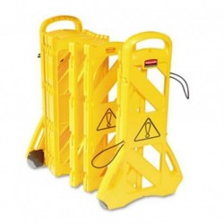 Rubbermaid Commercial Portable Mobile Safety Barrier Plastic 13ft x 40 Yellow