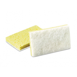 Scotch-Brite PROFESSIONAL Light-Duty Scrubbing Sponge Yellow and  While