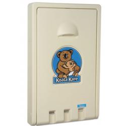 Koala Kare Standard Recessed Vertical Baby Changing Station Cream