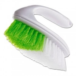 Butler Iron Handle Brush 5 3/4 Brush 1 1/4 Bristles White/Green
