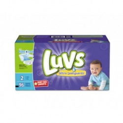Luvs Diapers with Leakguard Size 2: 12 to 18 lbs