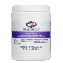 Clorox Healthcare Multi-Surface Quat Alcohol Cleaner Disinfectant Wipes