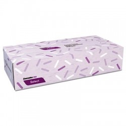 Cascades PRO Select Flat Box Facial Tissue 2-Ply White 8 x 7 3/8