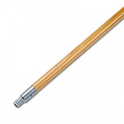 Boardwalk Metal Tip Threaded Hardwood Broom Handle 15/16 Dia x 60 Long