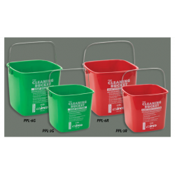 Cleaning Buckets Pails 3Qt. RED Sanitizing Solution