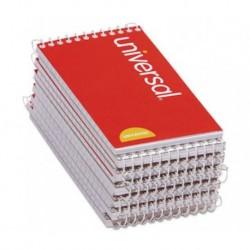 Universal Wirebound Memo Books Narrow Rule 5 x 3 Orange 50 Sheet Pads