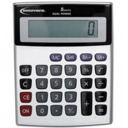 Innovera Portable Minidesk Calculator 8-Digit LCD