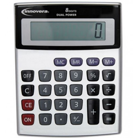 Innovera Portable Minidesk Calculator 8-Digit LCD