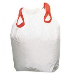 Boardwalk Drawstring Low-Density Can Liners 13gal 0.8 mil White