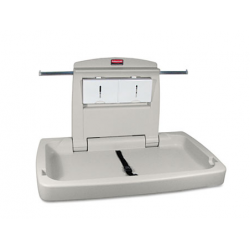 RUBBERMAID COMMERCIAL HORIZONTAL STURDY STATION 2 BABY CHANGING TABLE PLATINUM