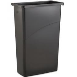 RUBBERMAID SLIM JIM WASTE RECEPTACLE RECTANGULAR PLASTIC23 GAL BLACK