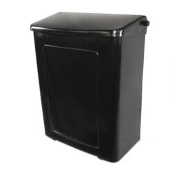 RECEPTACLE SANITARY NAP KIN PLASTIC BLACK
