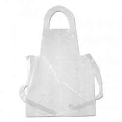 Boardwalk Poly Apron White 28 in. x 55 in. 1 mil. One Size Fits All