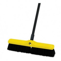 Rubbermaid Commercial Medium Floor Sweeper Polypropylene and Tampico 18 Brush 3 Bristles Black