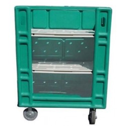LM Exchange Linen Truck 45 Cubic Ft Capacity FDA Approved HDPE Resin HUNTER GREEN (208) Fully Assembled With 8 in. Colson Ca