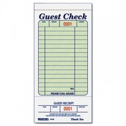 Royal Guest Check Book 3 1/2 x 6 7/10