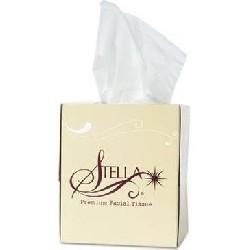 STELLA PREMIUM 2PLY 8.3 X7.4 FACIAL TISSUE FLAT BOX 100SH WHITE