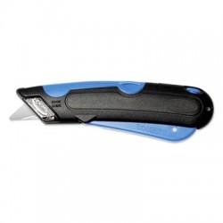 COSCO Box Cutter Knife w/Shielded Blade Black/Blue