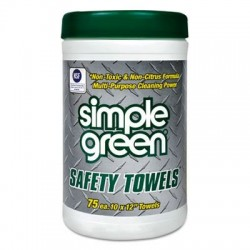 Simple Green Safety Towels 10 x 11 3/4 75/Canister
