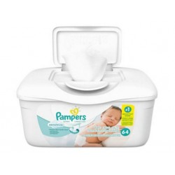 Pampers Sensitive Baby Wipes White Cotton Unscented