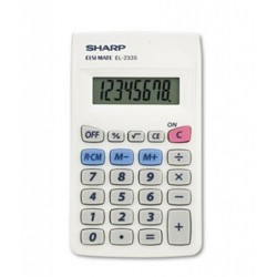 Sharp EL233SB Pocket Calculator 8-Digit LCD