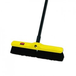Rubbermaid Commercial Tampico-Bristle Medium Floor Sweep 18Brush3Bristles Black