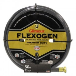 Gilmour Eight-Ply Flexogen 10 Series Garden Hose 3/4in x 50ft Gray