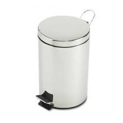 Medi-Can Round Steel 3.5gal Stainless Steel