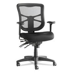 Alera Elusion Series Mesh Mid-Back Multifunction Chair Black