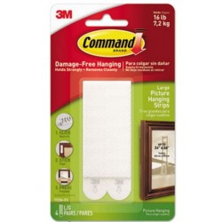 Command Picture Hanging Strips White