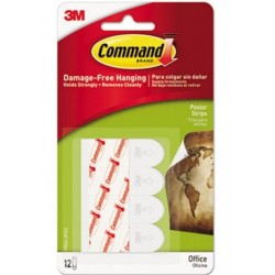 Command Poster Strips Value Pack White