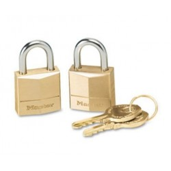 Master Lock Three-Pin Brass Tumbler Locks  2 Locks & 2 Keys