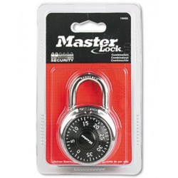 Master Lock Combination Lock Stainless Steel Black Dial